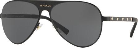 Versace Monochromatic Aviator Sunglasses