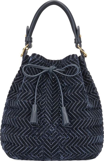 Anya Hindmarch The Neeson Small Velvet Ribbon Drawstring Bucket Bag