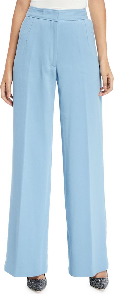 Dries Van Noten High-Rise Wide-Leg Classic Cotton Trousers