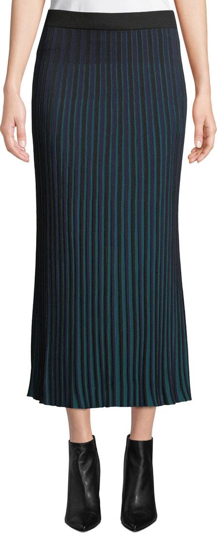 KENZO Striped Knit Pleated Midi Skirt