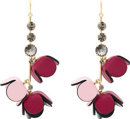 Marni Tulip drop pendant earrings
