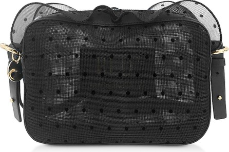 RED Valentino Black Polka Dots Transparent Crossbody Bag