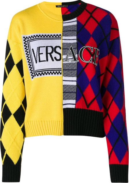 Versace Argyle knit jumper