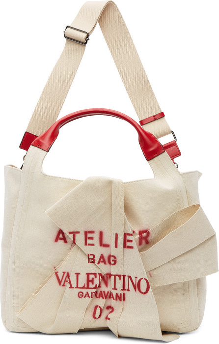 Valentino Beige Valentino Garavani 'Atelier Bag 02' Tote