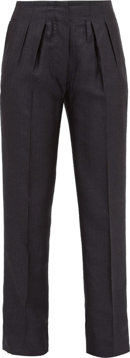 Giuliva Heritage Collection The Gastone silk-blend herringbone trousers