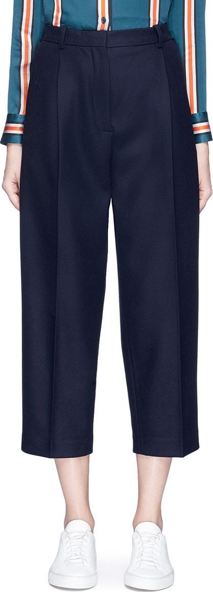 Acne Studios 'Tabea' pleated flannel cropped pants