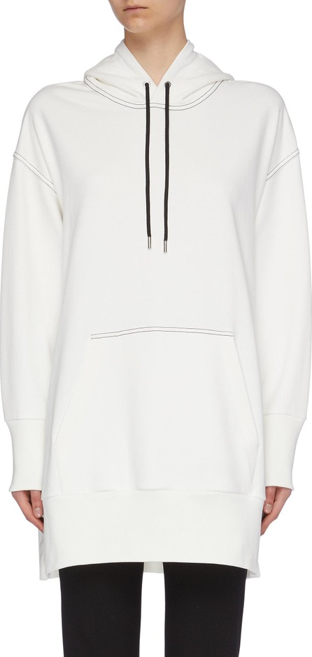 415002a8c33a 3.1 Phillip Lim Contrast topstitching split side oversized hoodie