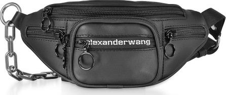 Alexander Wang Black Matte Soft Nappa Leather Attica Mini Fanny Xbody