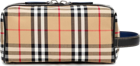 Burberry London England Check and leather pouch