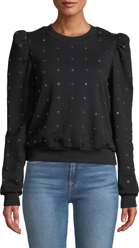 A.L.C. Azalia Embellished Puff-Sleeve Sweatshirt
