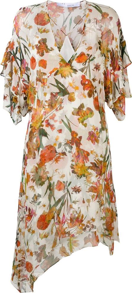 IRO Asymmetric floral print dress