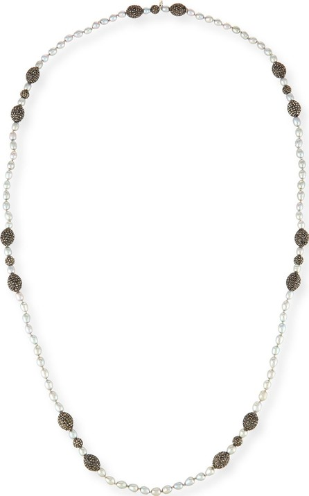 Hipchik Couture Remi Seed Pearl Necklace, Gray