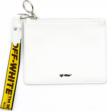 Off White Diagonal Double Flat Clutch Bag