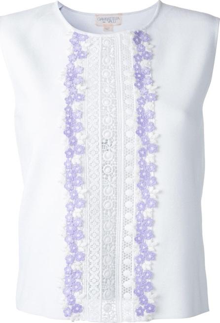 Giambattista Valli embroidered trim blouse