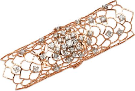 Staurino Fratelli Moresca Armor 18k Rose Gold & Diamond Long Hinged Ring