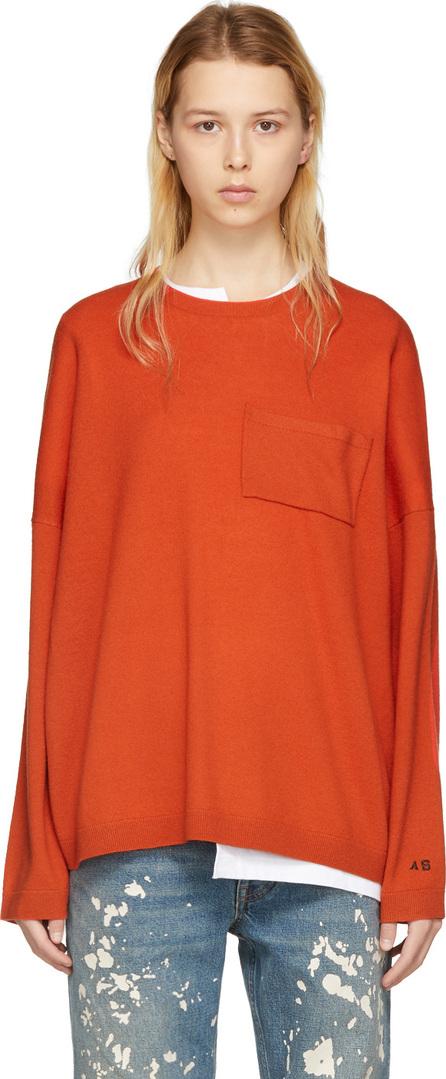 Acne Studios Orange Wool Libble Sweater