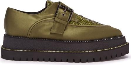 Nº21 Raised-sole monk-strap shoes