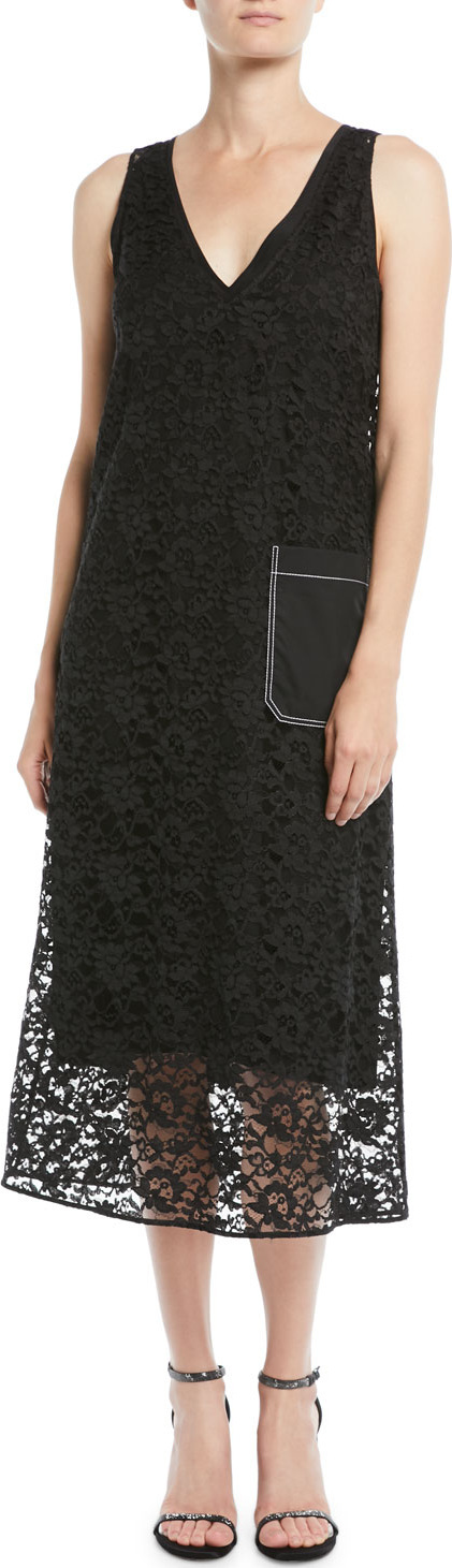 Joseph Margo Palermo Lace V-Neck Dress