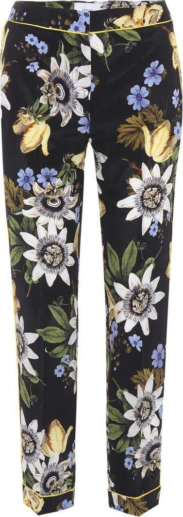 Erdem Ginnie floral-printed silk trousers