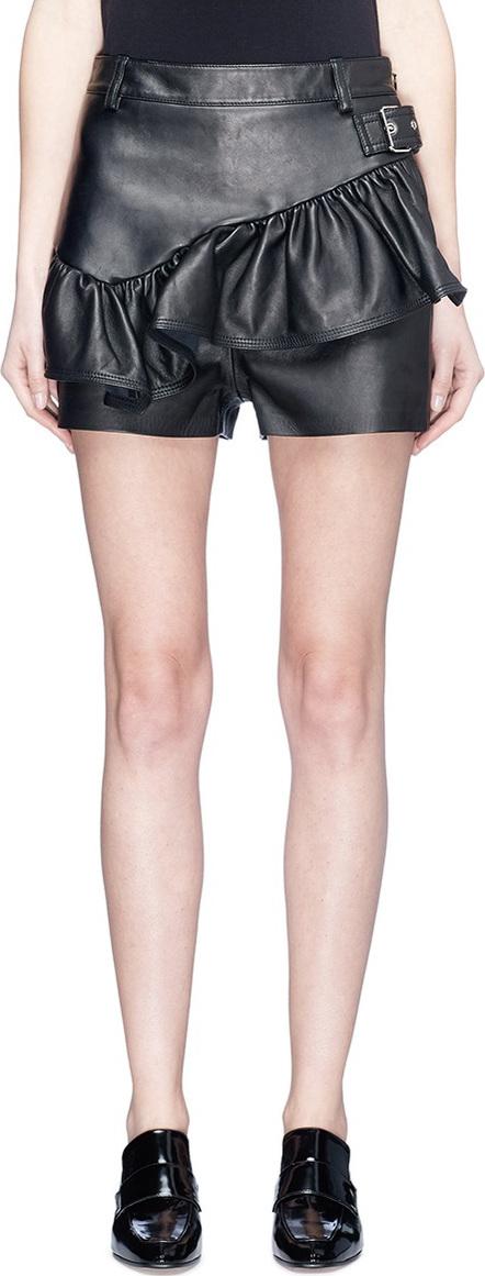 3.1 Phillip Lim Ruffle leather shorts