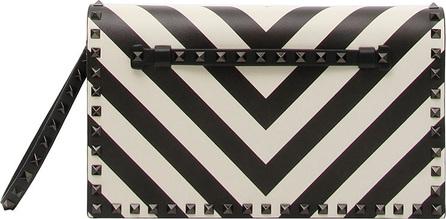 Valentino Rockstud V-Stripe Clutch Bag