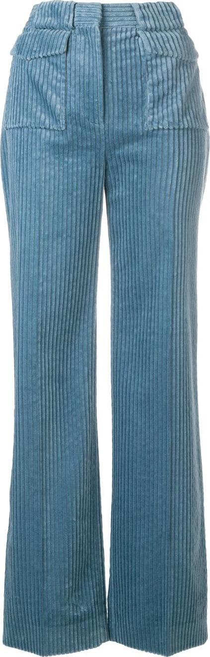 VICTORIA, VICTORIA BECKHAM Flared corduroy trousers