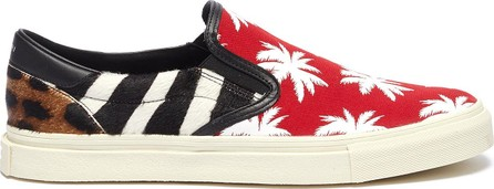 Amiri 'Palm Patchwork' pony hair skate slip-ons