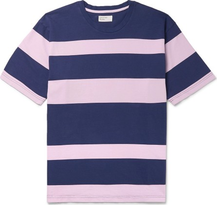 Universal Works Striped Cotton-Jersey T-Shirt