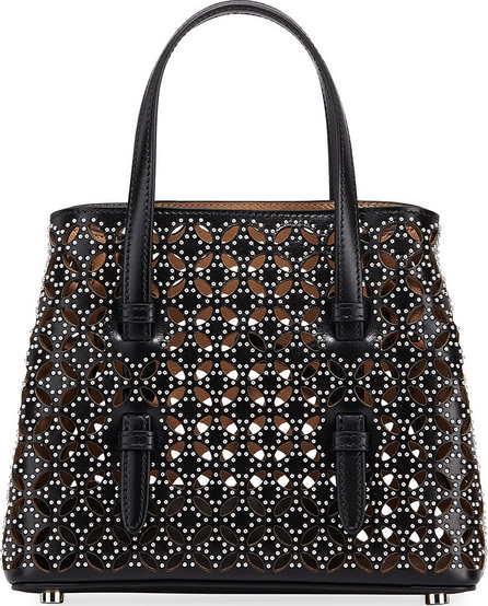 Alaïa Micro Tote Bag in Cuir Lux Petal