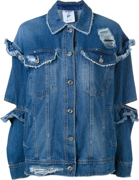 Steve J & Yoni P ruffle cut denim jacket