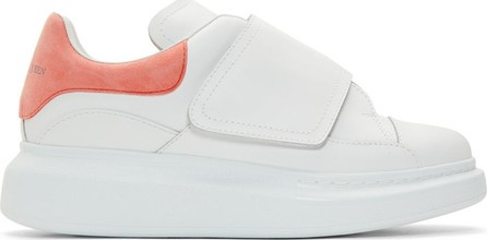 Alexander McQueen White & Pink Flap Tab Oversized Sneakers