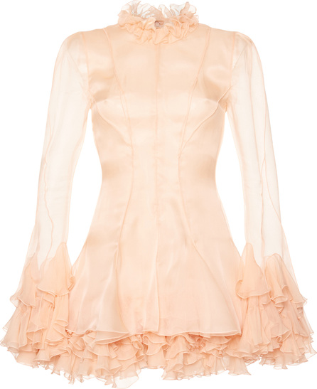 Francesco Scognamiglio Ruffled Mini Dress