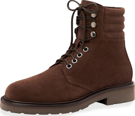 Aquatalia Men's Heath Waterproof Suede Lace-Up Boots