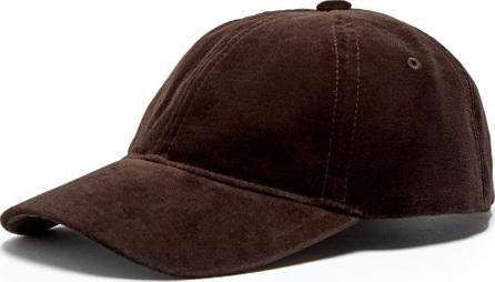 A.P.C. Alex velvet baseball cap