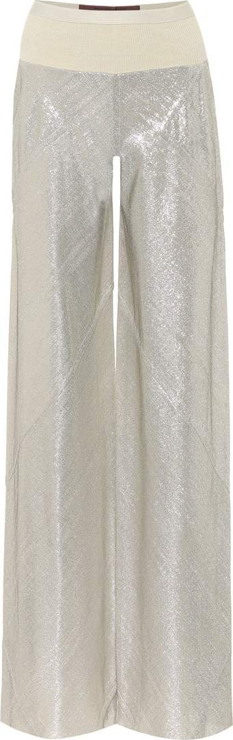 Rick Owens Lamé knitted trousers