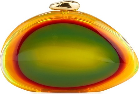 Benedetta Bruzziches Ariel Smooth Minaudiere Clutch Bag  Bright Yellow