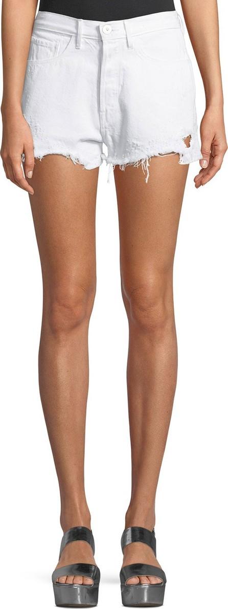 3X1 W4 Carter Distressed Denim Shorts