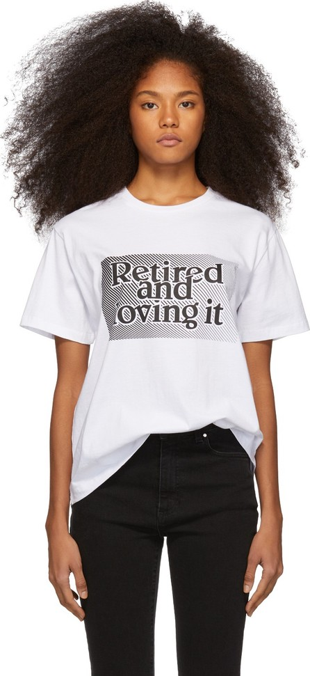 Ashley Williams White 'Retired And Loving It' T-Shirt