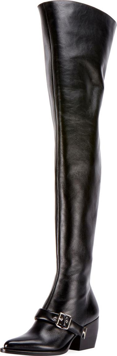 Chloe Rylee Over-The-Knee Buckle Boot