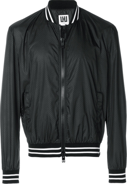 Les Hommes Urban Perforated bomber jacket