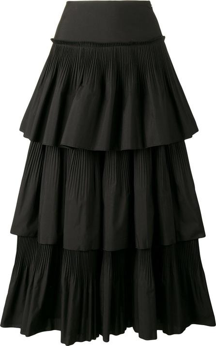 Alberta Ferretti pleated ruffle skirt