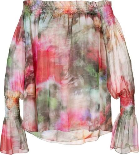 Adam Lippes floral print off-shoulder top