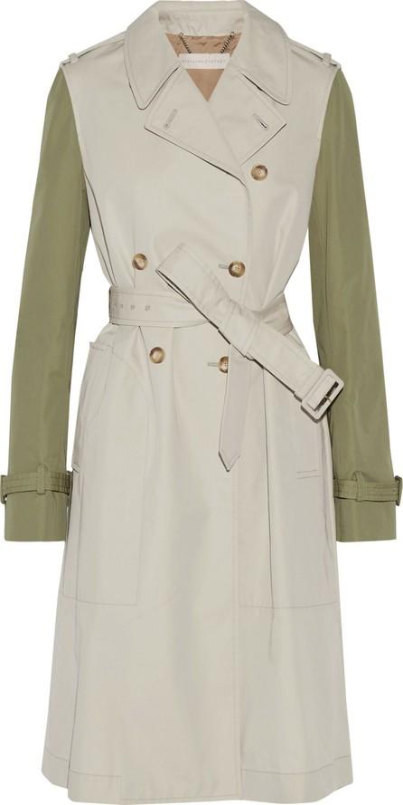 Stella McCartney Tanya two-tone cotton-blend gabardine trench coat