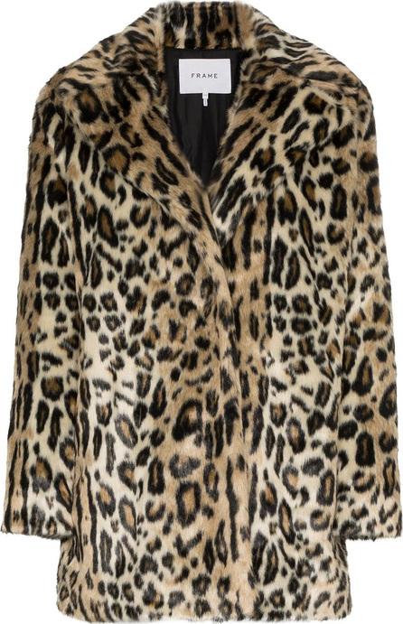 FRAME DENIM Cheetah print faux fur coat