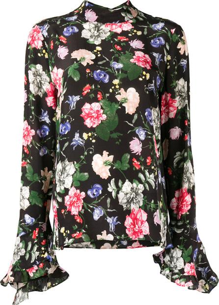 Erdem Lindsey ruffle sleeve floral blouse