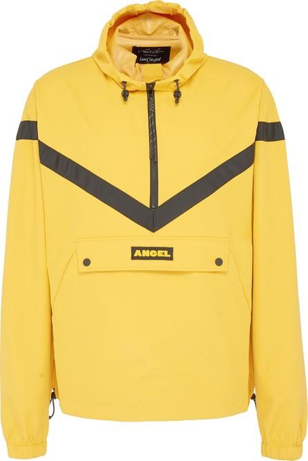 Angel Chen Logo patch chevron stripe unisex half-zip hoodie