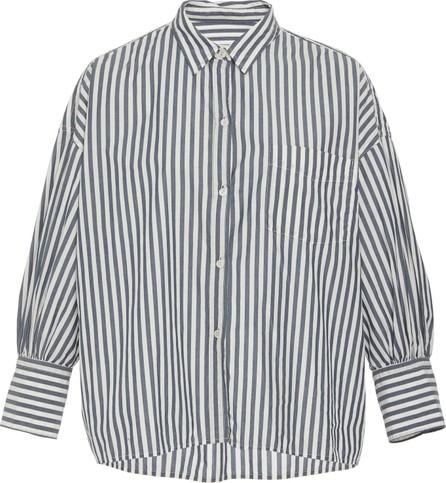 Nili Lotan Lonnie Striped Cotton-Poplin Button-Up Shirt