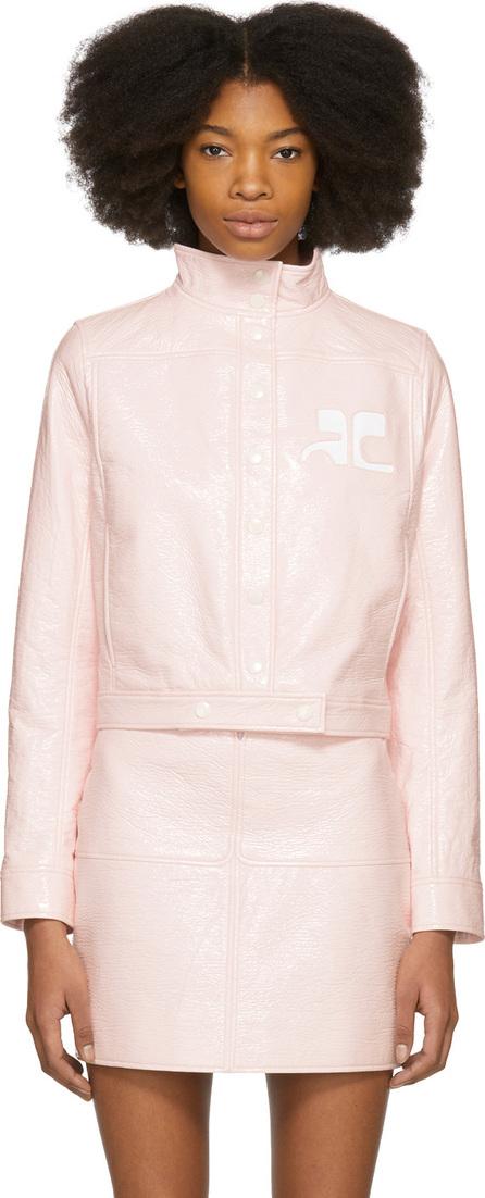 CourrèGes Pink Vinyl Logo Jacket
