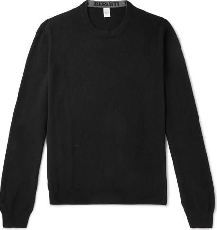 Berluti Cashmere and Mulberry Silk-Blend Sweater