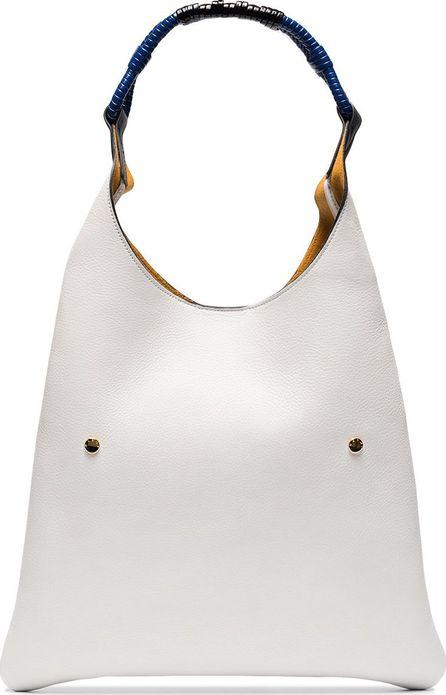 Marni White hobo leather shoulder bag